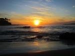 Couche de soleil sur la plage
